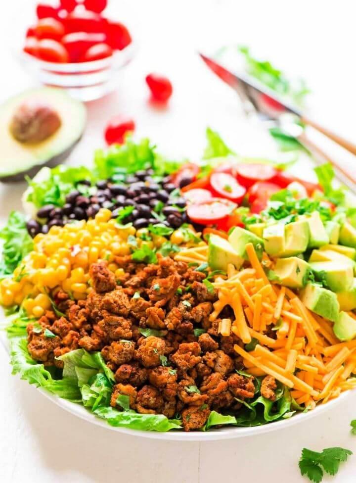 Simple DIY Skinny Taco Salad