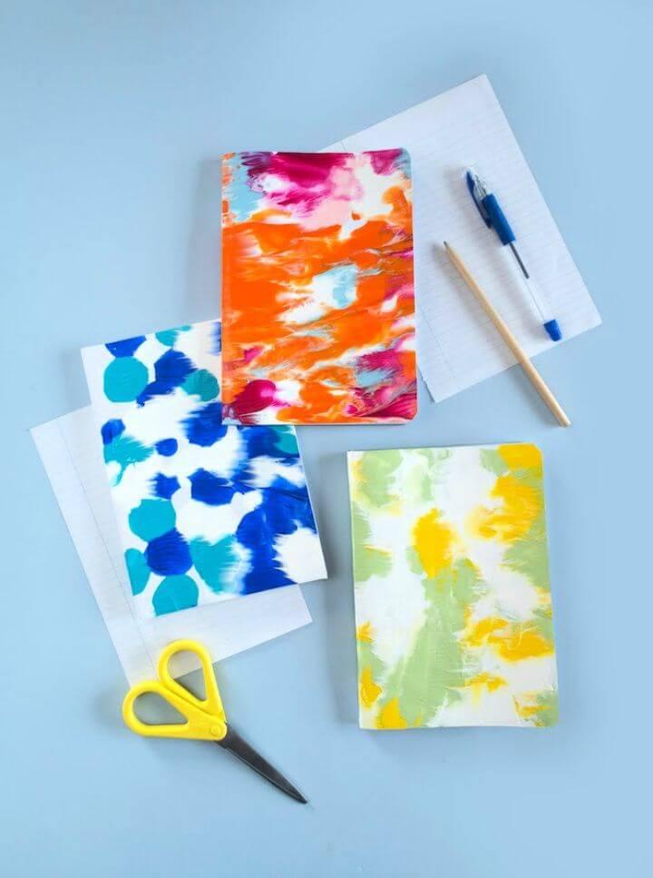 Simple DIY Symmetrical Painting Notebooks