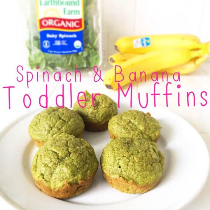 Spinach And Banana Healthy Breakfast Muffins Recipe for Toddlers