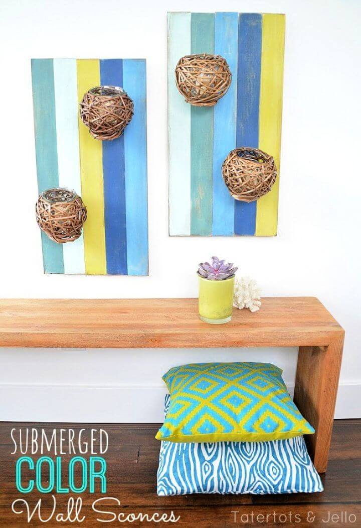 Submerged Color DIY Wood Pallet Wall Art
