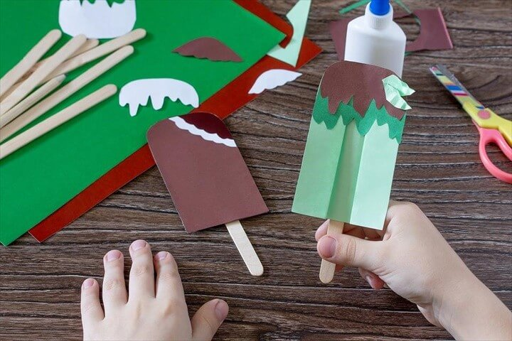 Summer Crafts for Kids How to Make Sweet Paper Ice Cream Treats
