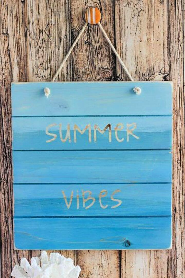 Summer Vibes Wood Pallet Sign