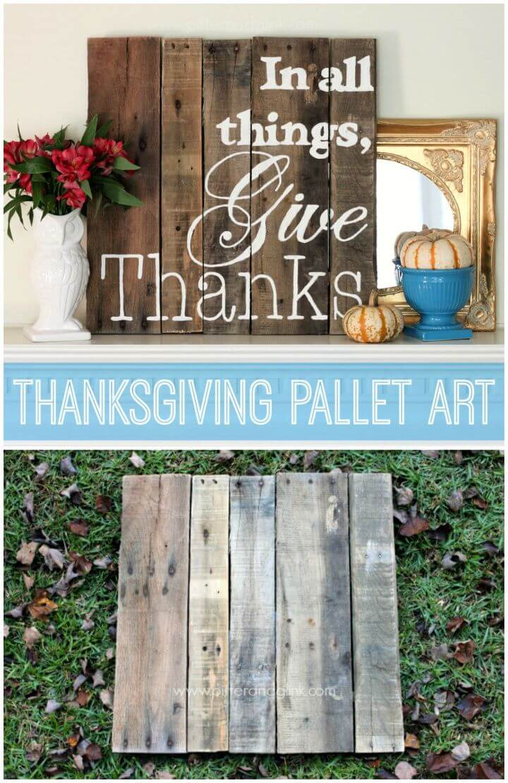 Thanksgiving Pallet Art A Wood Pallet Canvas Giveaway