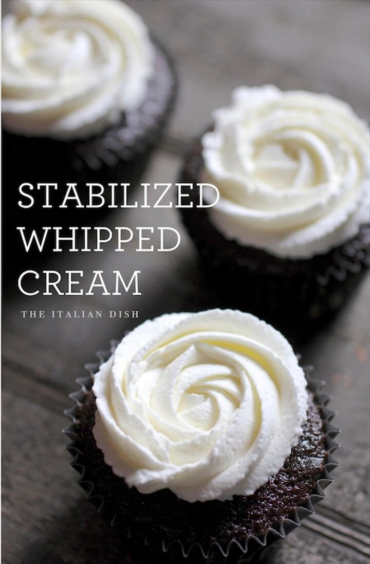 The Italian Dish Posts Stabilized Whipped Cream