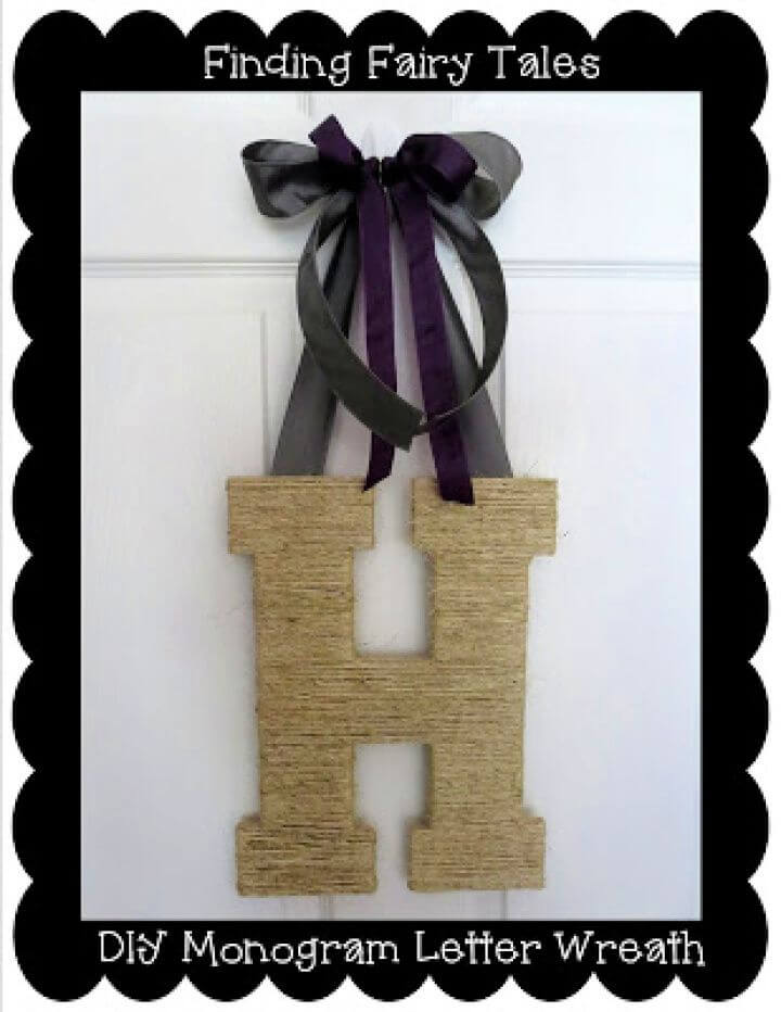 Twine Monogram Letter Wreath Tutorial