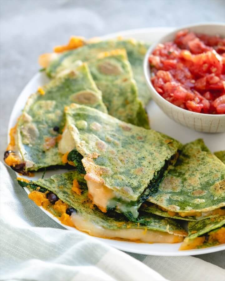 Veggie Packed Quesadillas Recipe