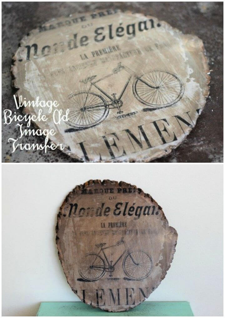 Vintage Bicycle Ad Image Transfer Wall Art