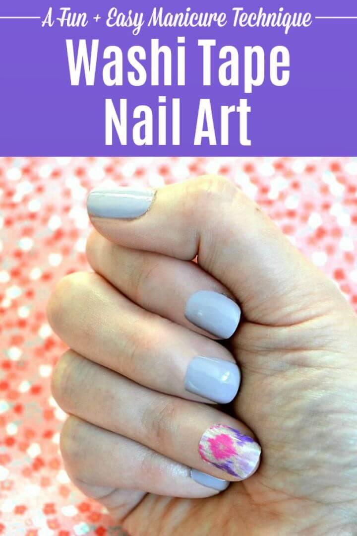 Washi Tape Nail Art