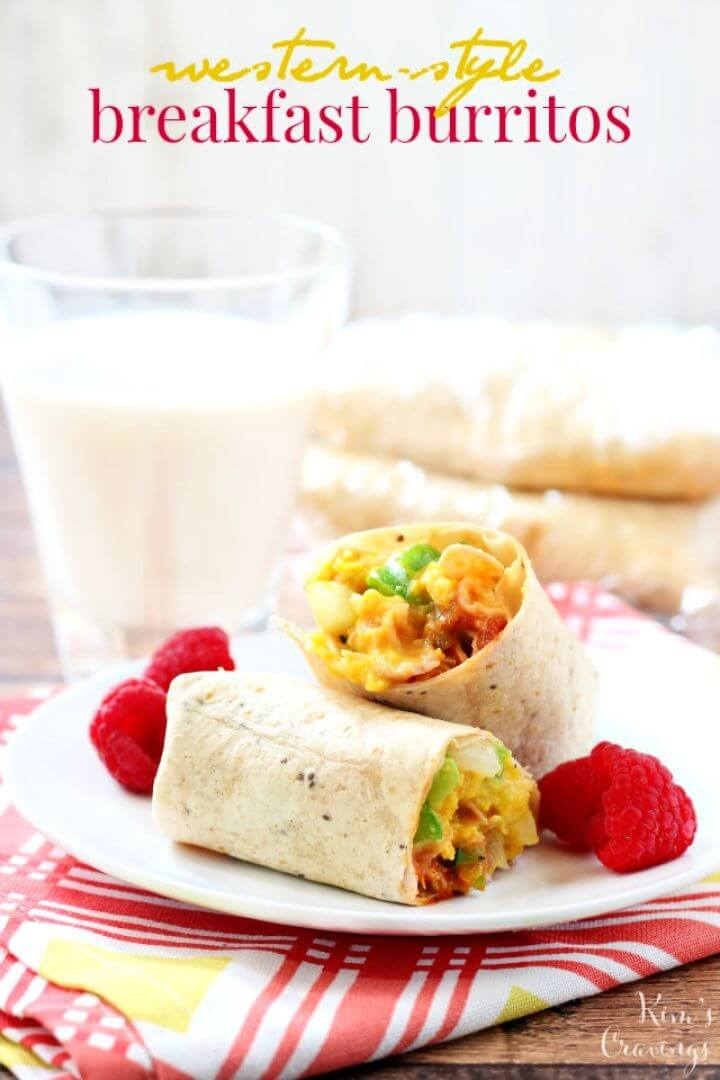 Western Style Breakfast Burritos