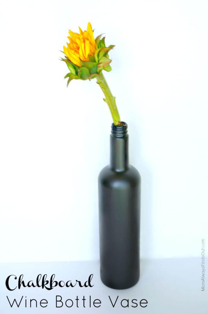 Wine Bottle Crafts DIY Chalkboard Vas