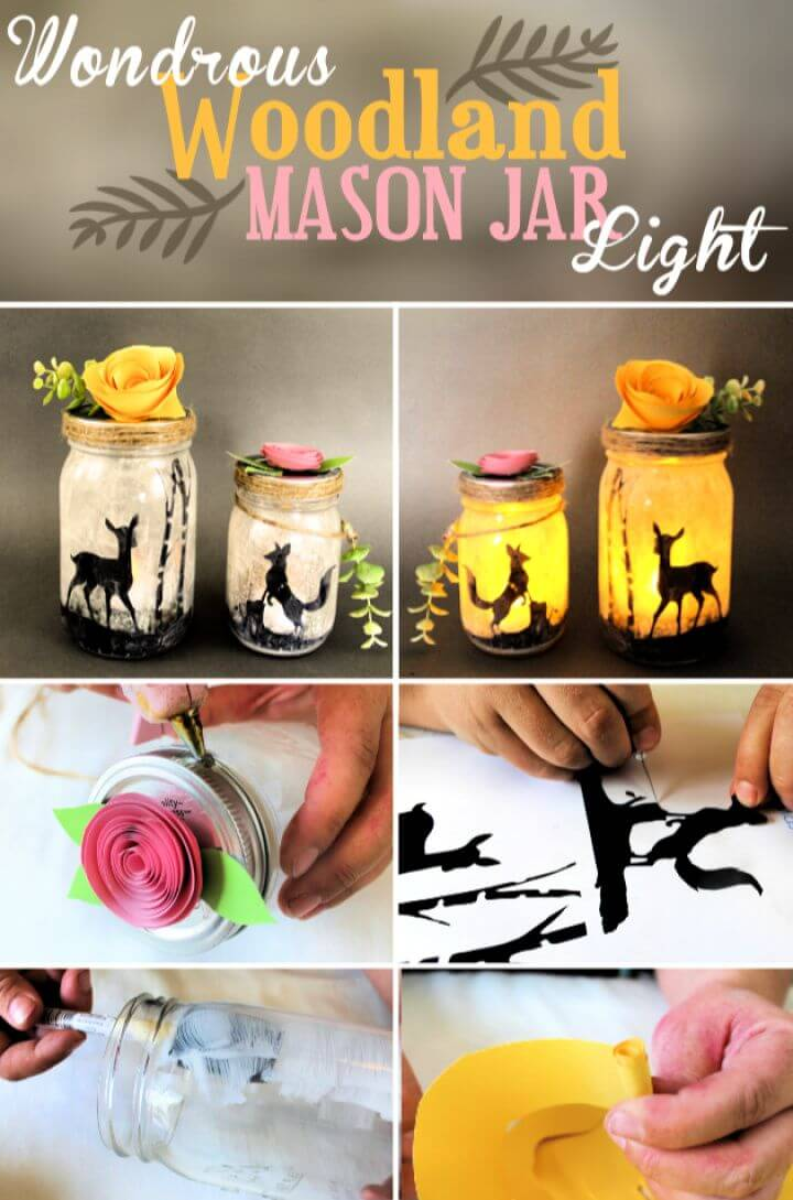 Wondrous Woodland Mason Jar Light