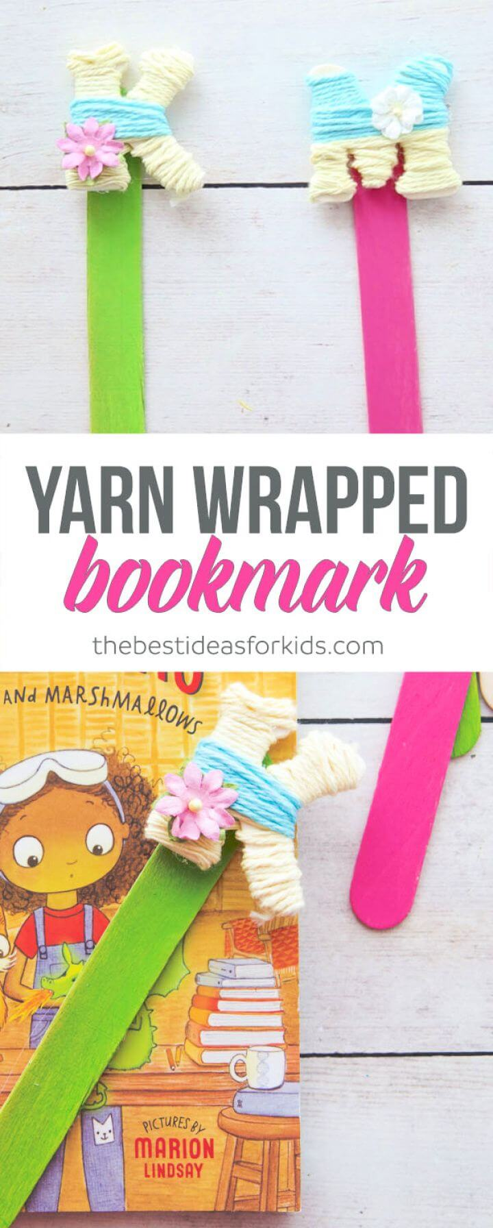 Yarn Wrapped Letter Bookmarks