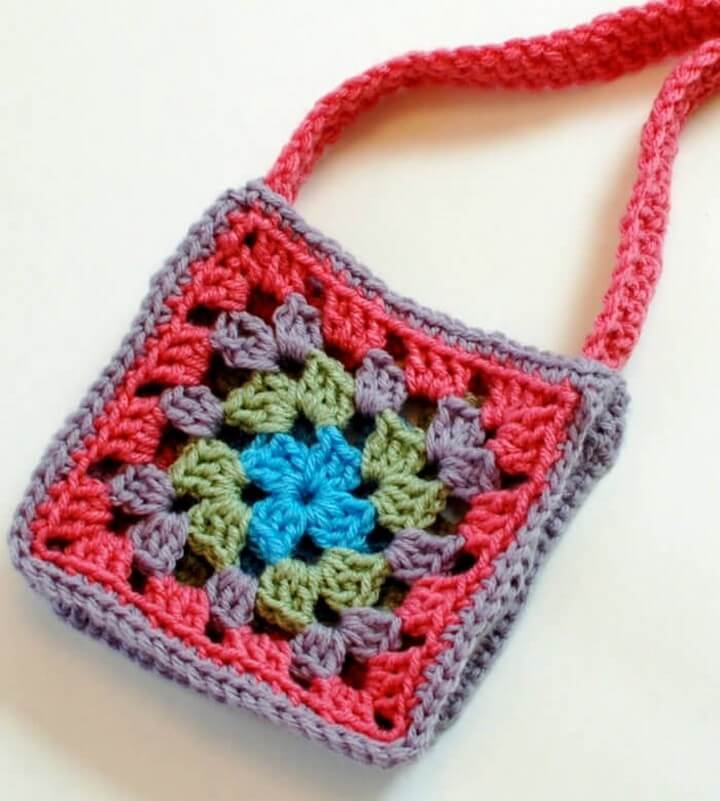 Handmade Granny Square Purse Crochet Pattern
