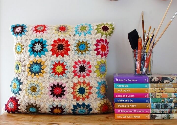 How To Crochet Granny Square With Circle Center