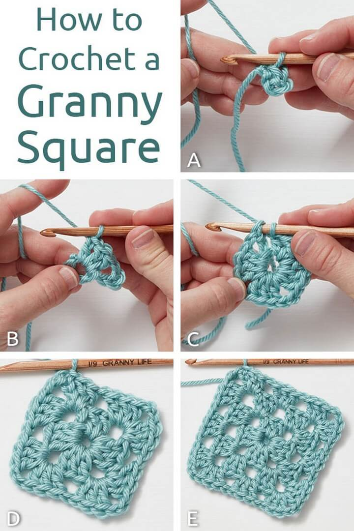 How to Crochet a Granny Square Tutorial