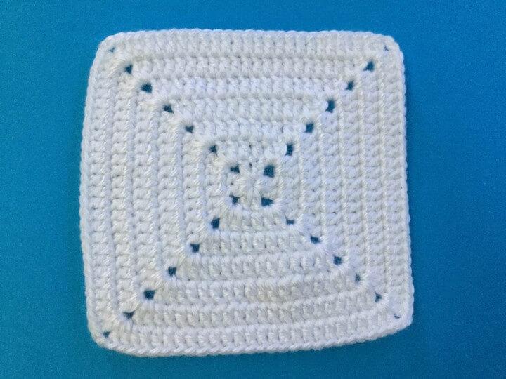 Solid Crochet Granny Square Pattern