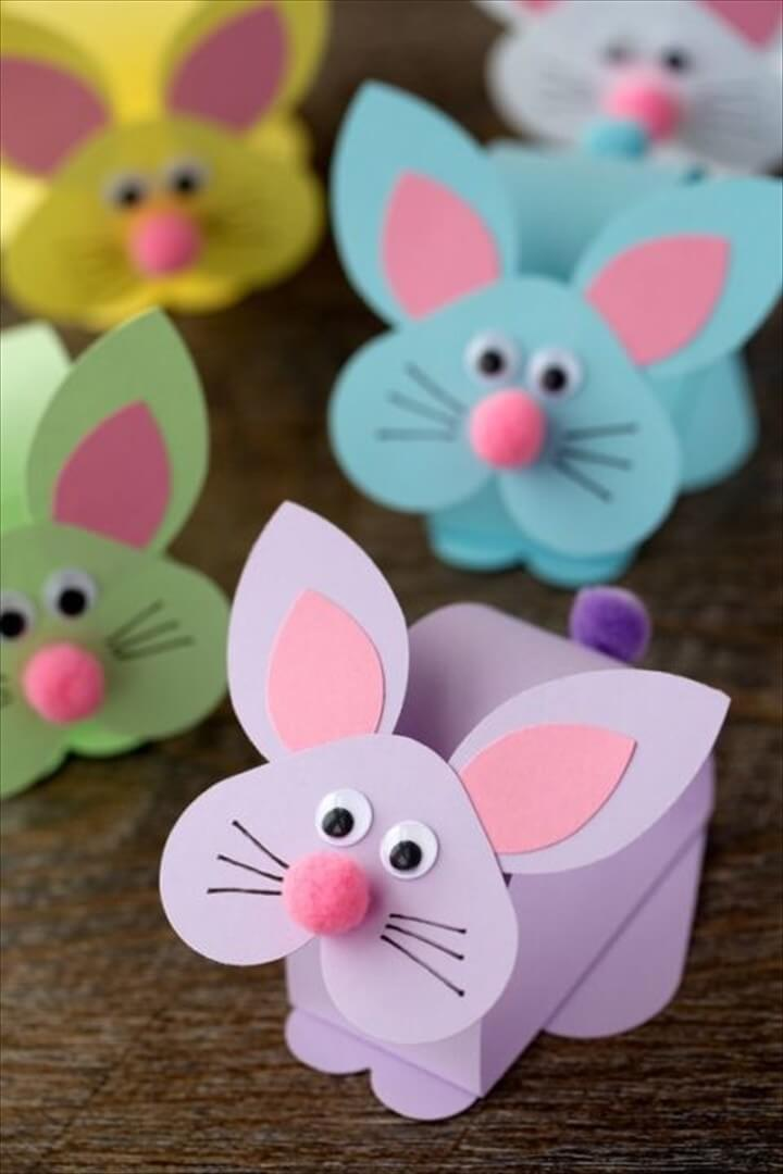 Adorable Paper Bobble Head Bunny Craft