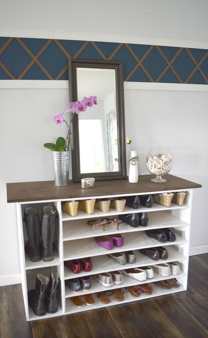 Amazing DIY Shoe Rack Perfect for Any Room