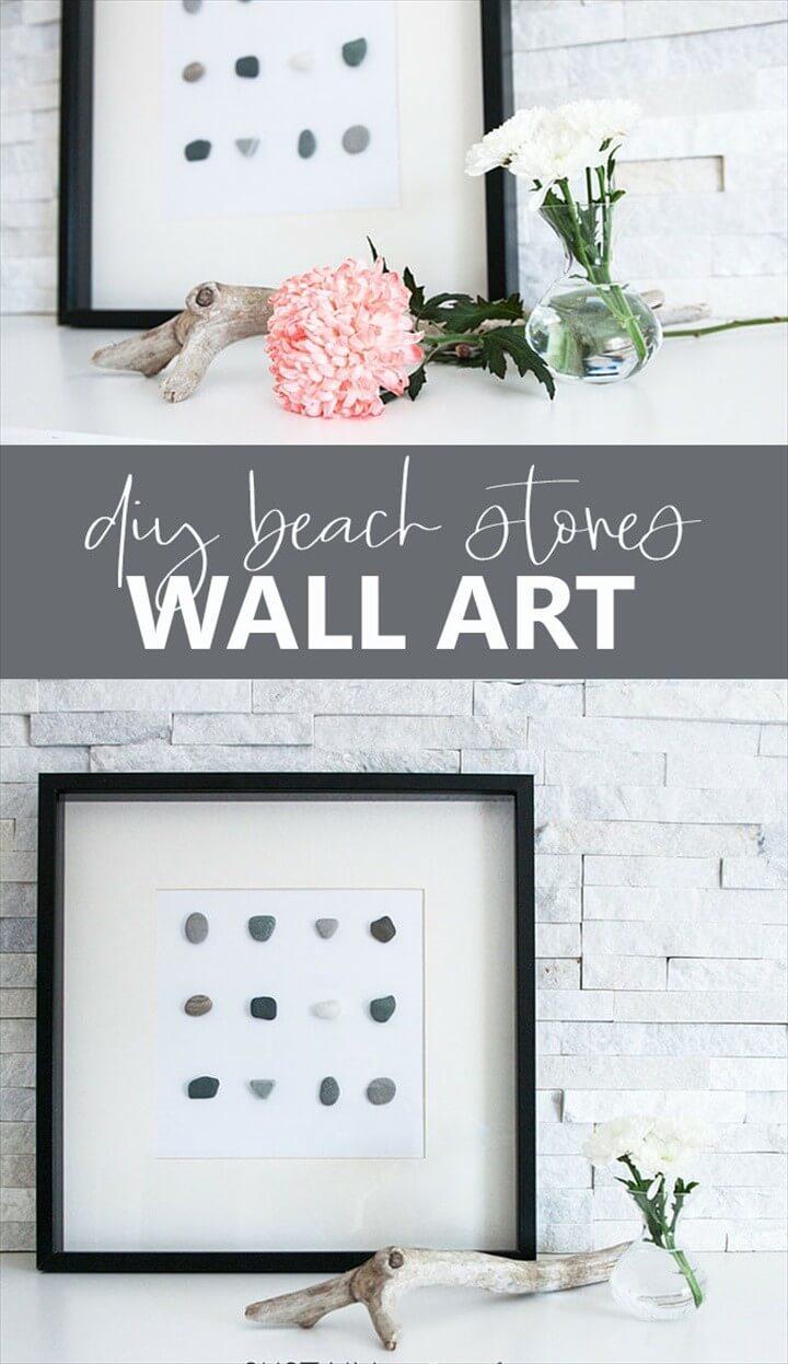 Beach Stones Wall Decor Wall Art DIY