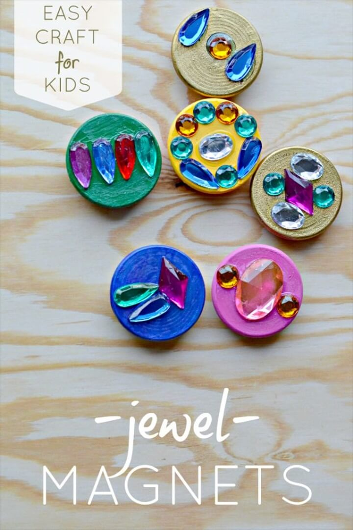 Create Treasure Jewel Magnets DIY Tutorial
