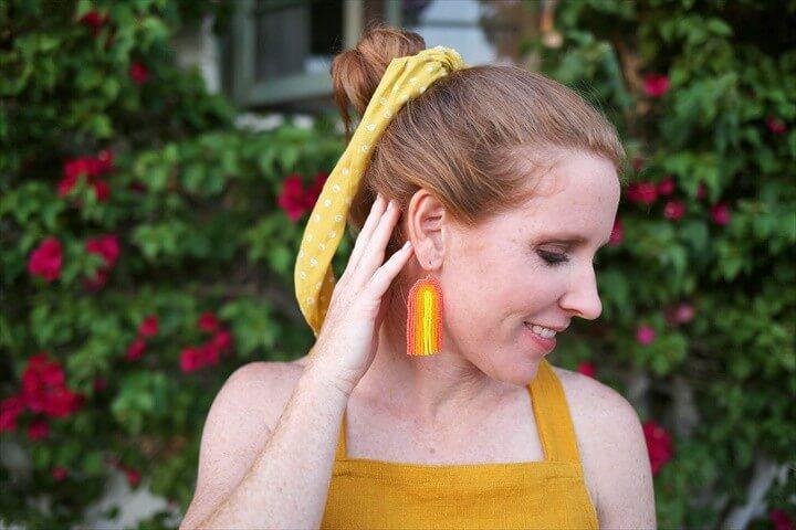 DIY Amazing Rainbow Seed Bead Earrings