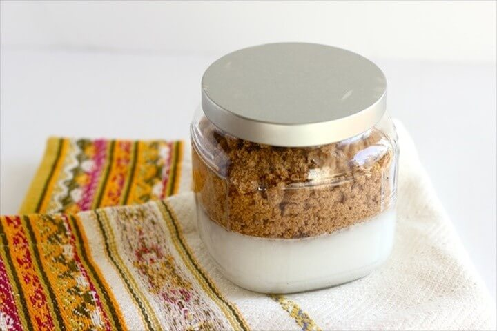 DIY Coconut Brown Sugar Orange Blossom Body Scrub