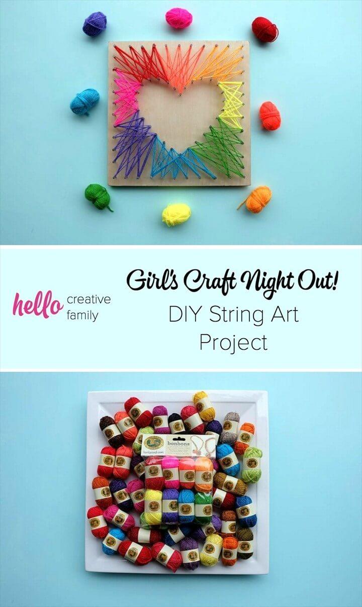 DIY Craft Night Out DIY String Art Tutorial