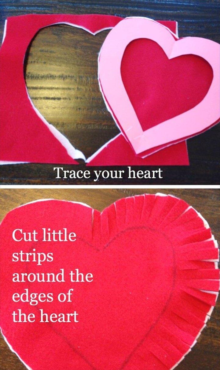DIY Felt Heart Craft Idea No Sewing Required 1