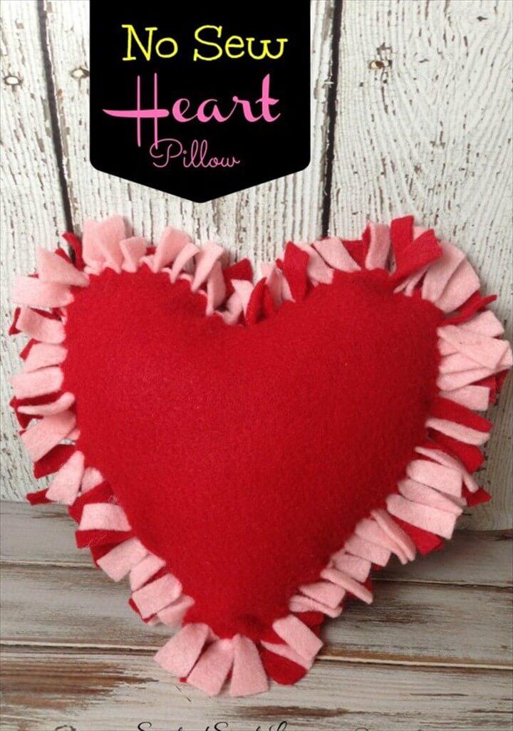 DIY Felt Heart Craft Idea No Sewing Required