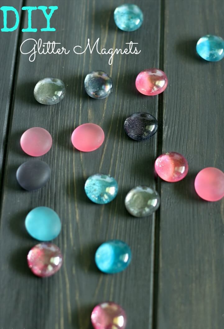 DIY Glitter Magnets Easy Craft Tutorial