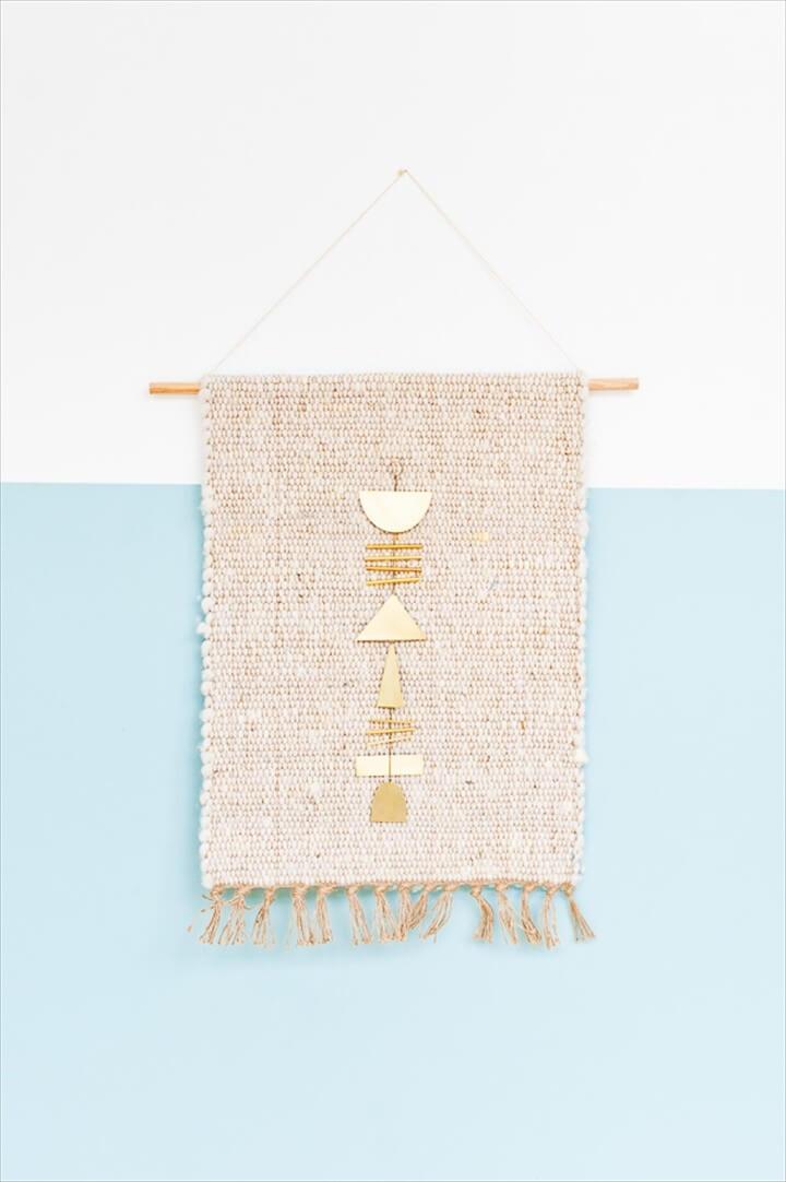 DIY Holding Finished Weaving Hack Using Rug Brass
