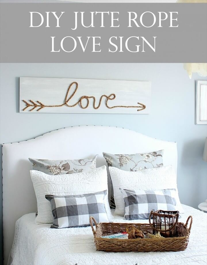 DIY Jute Rope Love Sign For Better Home