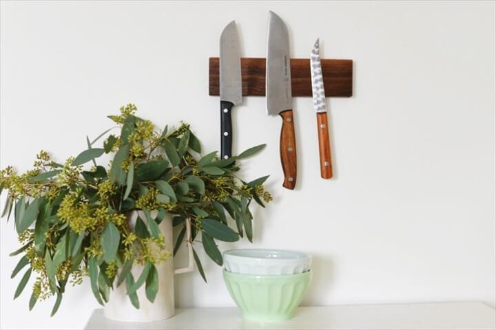 DIY Magnetic Knife Holder Tutorial