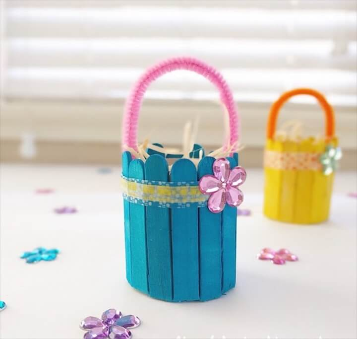 DIY Popsickle Mini Basket