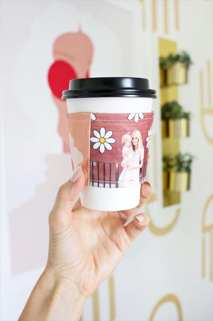 DIY Reuseable Photo Coffee Cozy