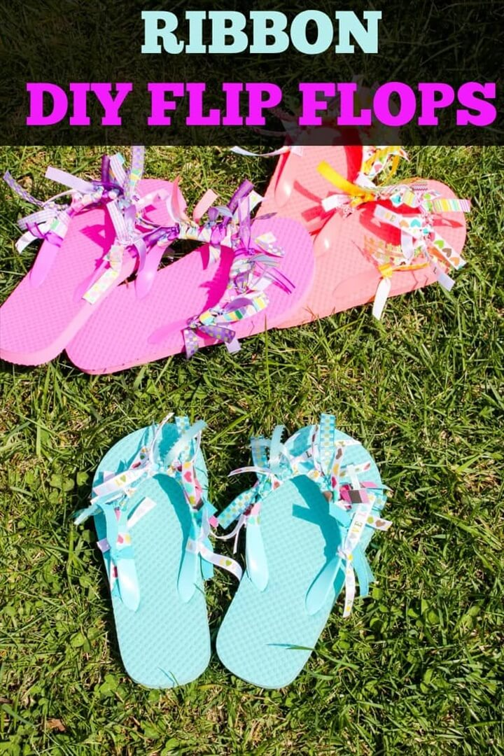 DIY Ribbon Flip Flops Ideas