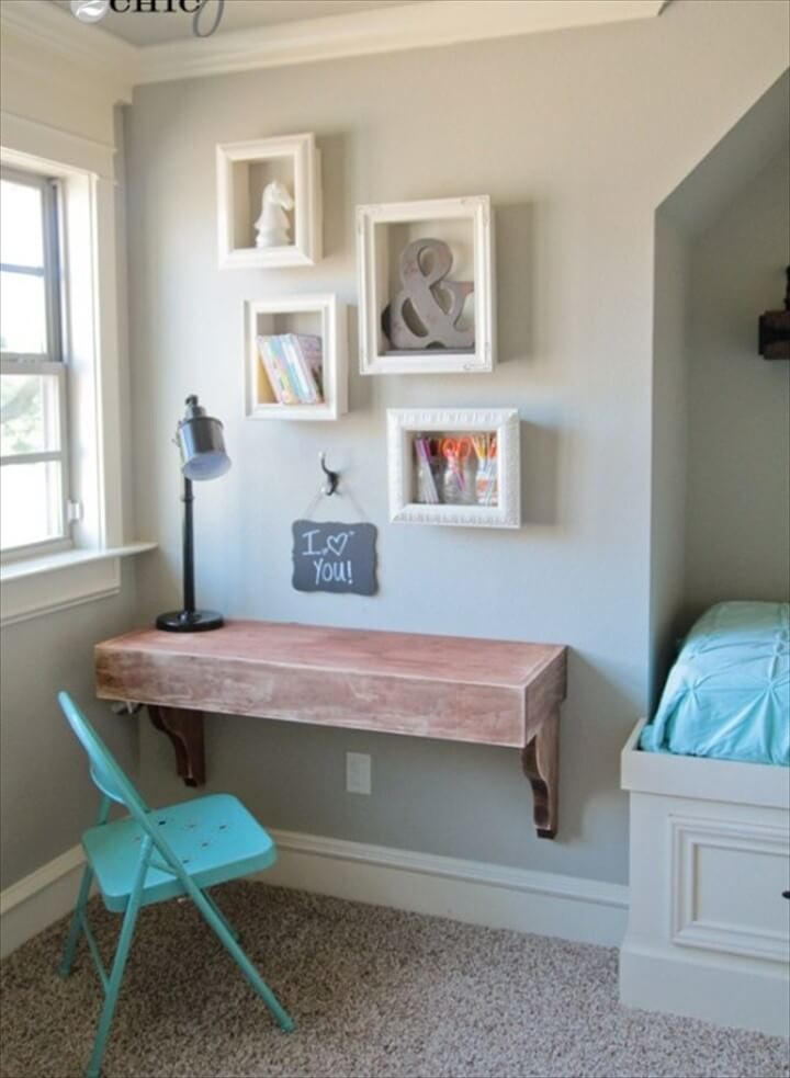 DIY Simple Frame Shelves