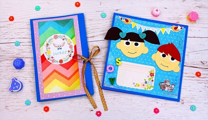 DIY Vintage Scrapbook For Kids