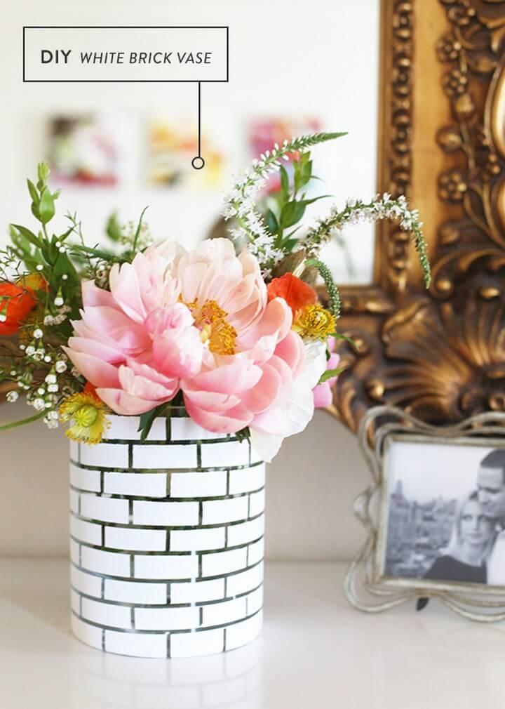 DIY White Brick Vase Tutorial