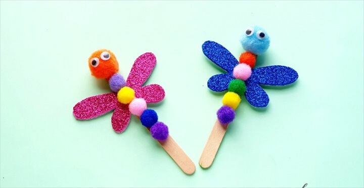 Easy To Make DIY Easy Dragonfly Craft Project