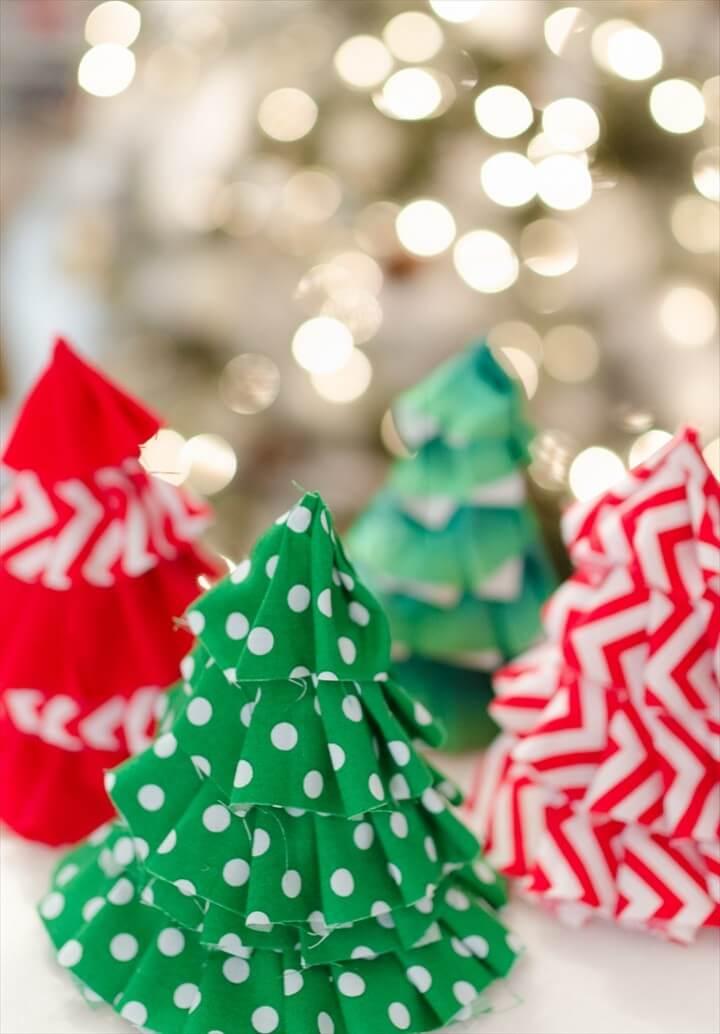 Fabric Christmas Craft IdeaDIY Christmas Tree Party Hats