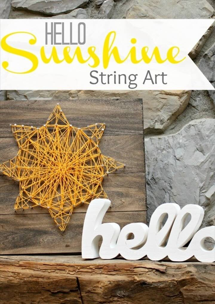 Hello Sunshine String Art DIY