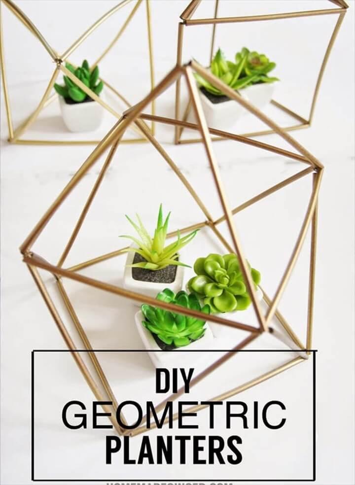 How To Make DIY Geometricq Planters