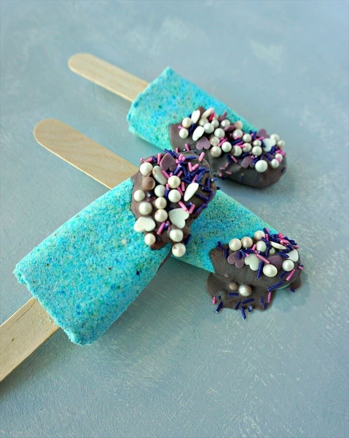 How To make your own DIY Mermaid Bath Bomb Popsicles