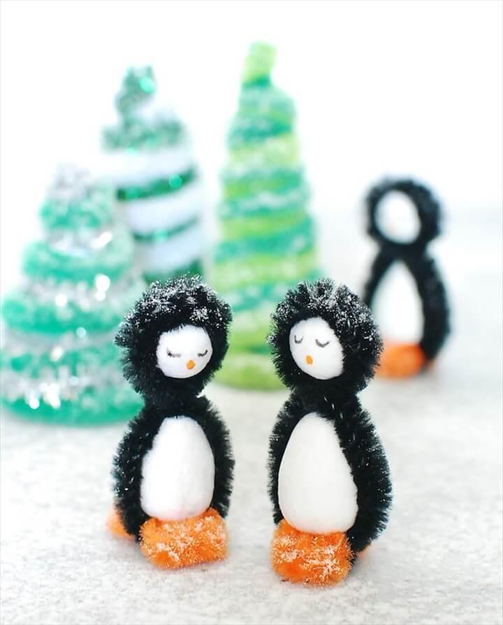 Pipe Cleaner Penguins DIY Winter Craft