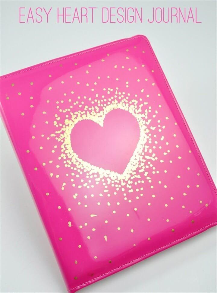 Simple Easy Heart Design Journal