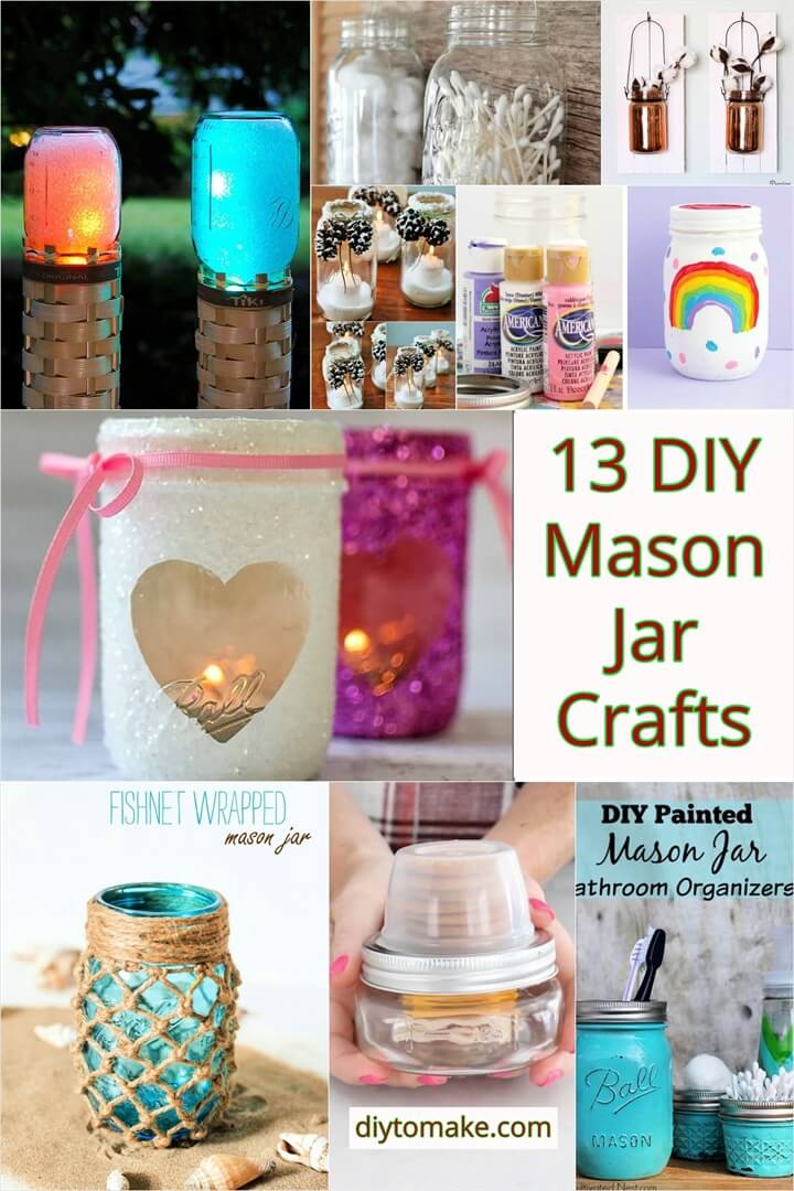 13 DIY Mason Jar Crafts – Easy Craft Ideas 1