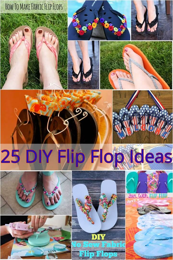 25 DIY Flip Flop Ideas You Can Make an Hour 1