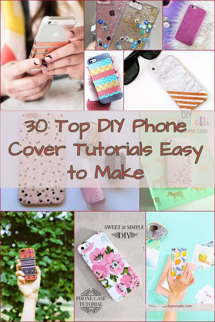 30 Top DIY Phone Cover Tutorials Easy to Make 2