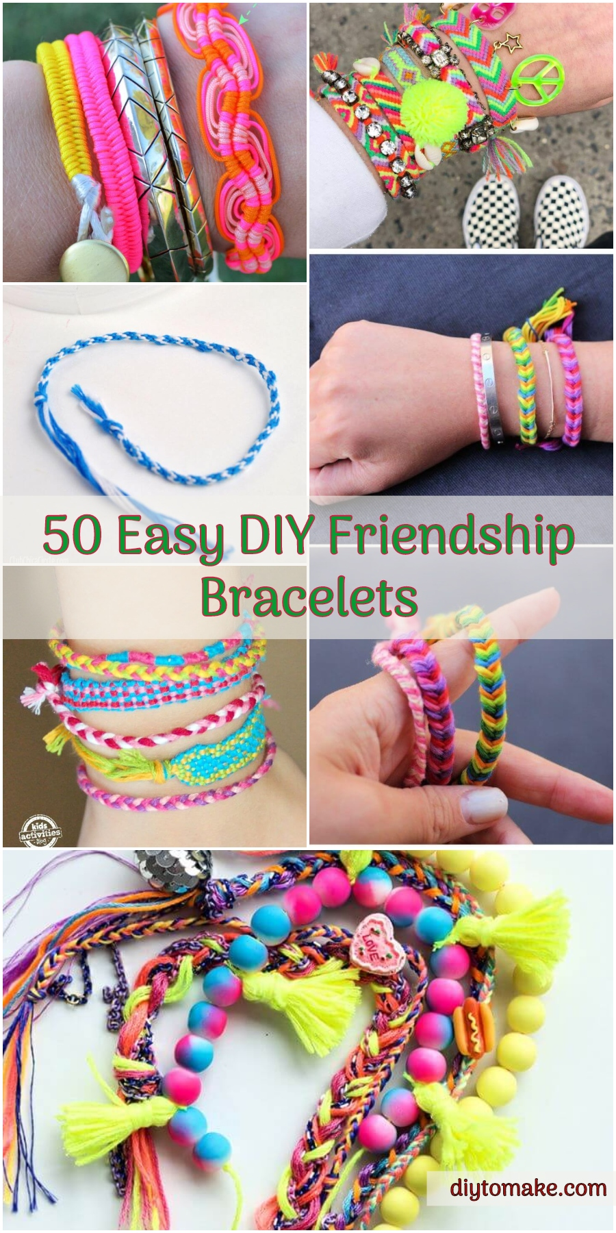 50 Easy DIY Friendship Bracelets How to Make Step by Step